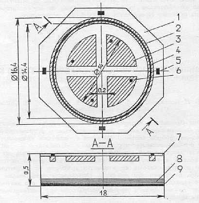 Структура p-i-n-фотодиода: